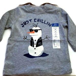 NWT adorable Okie Dokie Snowman T-Shirt